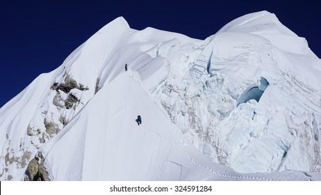 Mountaineers in Himalaya