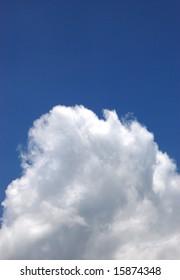 Mountain-like cloud