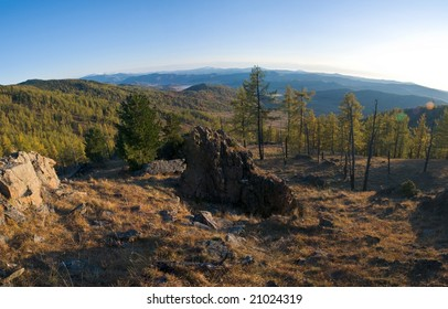 Mountainous Altai in the autumn. September