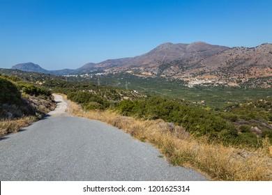 Mountainous countryside near the village of Vrises on the island of Crete, Greece