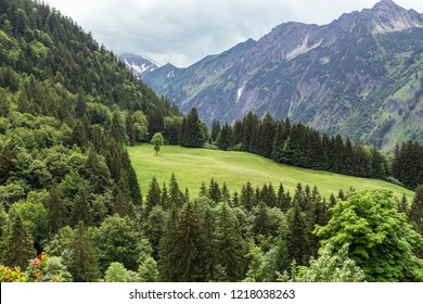 Mountainous landscape in the Allgau. Bavaria. Germany.