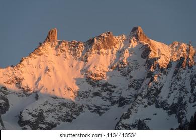 Mountainous landscape in Aosta Valley. Italy