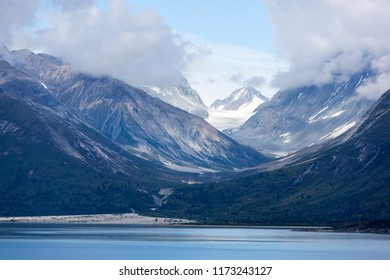 The mountainous landscape in Glacier Bay national park (Alaska).