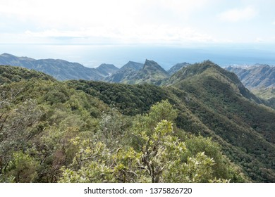 Mountainous landscape of Macizo de Anaga in Tenerife, Canary Islands, Spain