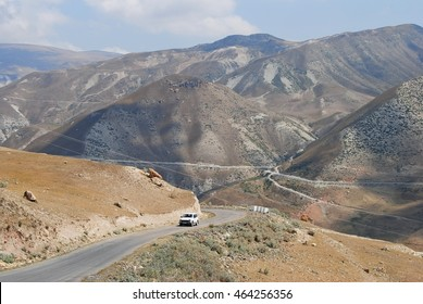 Mountainous road in Azerbaijan.