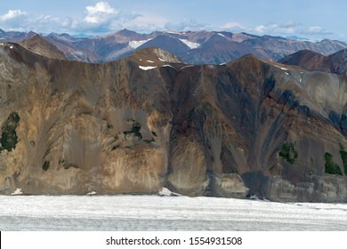 Mountains above Lowell glacier in Kluane National Park, Yukon, Canada