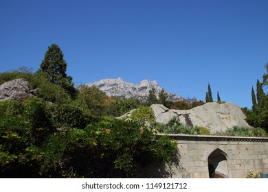 Mountains above the Vorontsov Palace in the Crimea.