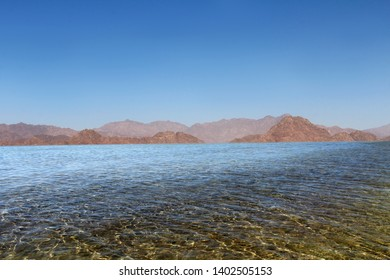 Mountains against the sea. Travelling to Egypt. Sharm El-Sheikh.