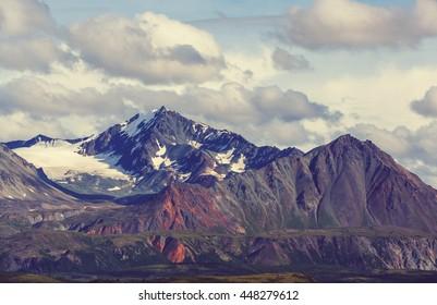 Mountains of Alaska in summer - Shutterstock ID 448279612