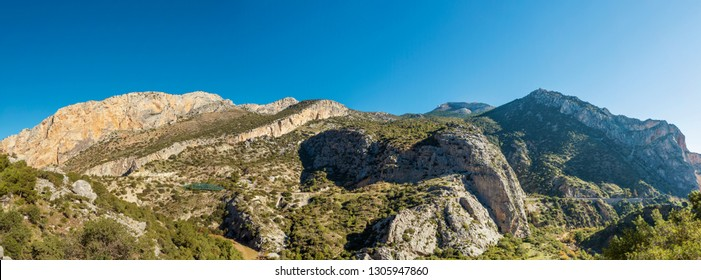 "Mountains along ""Caminito Del Rey"" trail"