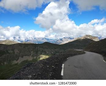 The mountains in Alps. Col de la Bonette and Col du Galibier