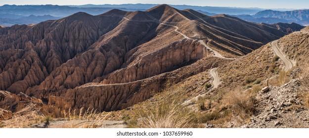 Mountains of Altiplano, remote area in Bolivia, South America