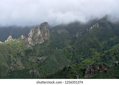Mountains of Anaga, Tenerife.Panoramic Anaga mountain views.