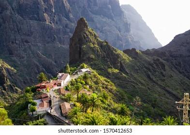 Mountains around famous Masca village on Tenerife, Spain