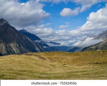 Mountains around Gorner Glacier, Switzerland