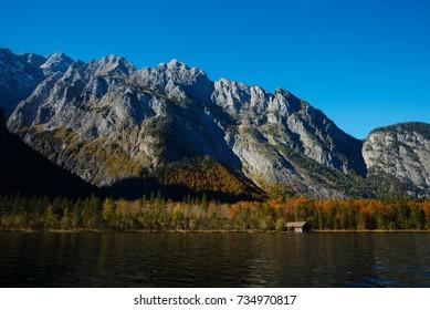 Mountains around Königssee lake in Bavaria