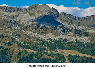 Mountains around Madonna di Campiglio Madonna di Campiglio in the summertime, Italy,Northern & Central Brenta mountain groups ,Western Dolomites, Trentino-Alto Adige, Italy