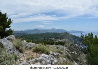 The mountains between Croatia and Bosnia Herzegovina