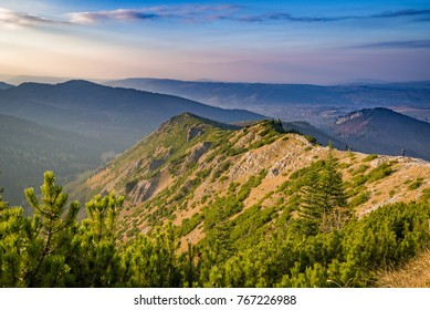 Mountains between hillocks defile. Tatra mountains, Poland