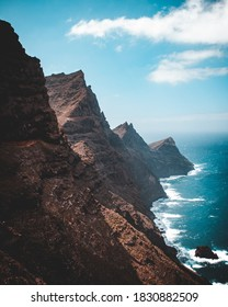 Mountains and blue sea in Gran Canaria, Spain