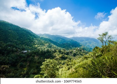 Mountains in the Caribbean in Jamaica