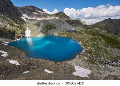 Mountains of the Caucasus range Arkhyz, Sofia lake, climbing mountains, Hiking and Hiking. Fabulous mountains of the Caucasus in the summer. Large waterfalls and deep blue lakes. Outdoor recreation