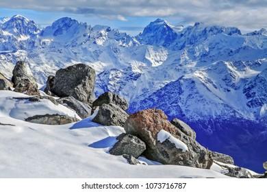 Mountains of the Caucasus. Russia, Kabardino-Balkarian Republic, Elbrus region.