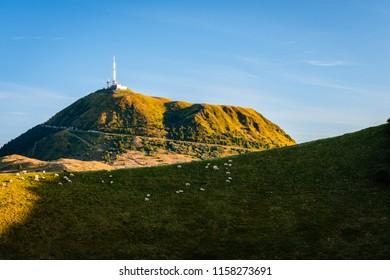 Mountains chain puy de Dome - Auvergne, France