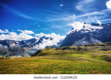 Mountains and clouds at Nivolet plateau in Gran Paradiso National Park (GPNP) (Itay)