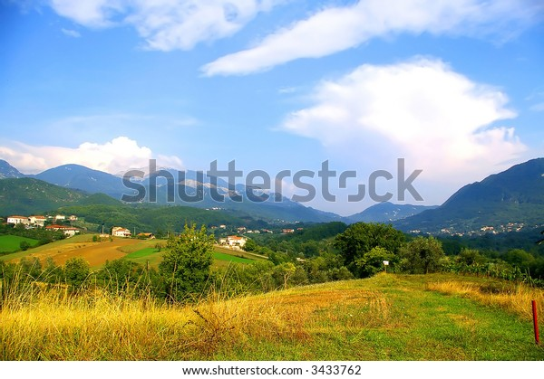 Mountains and cloudy-sky