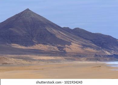 Mountains in Cofete beach in Fuerteventura, Canary Islands