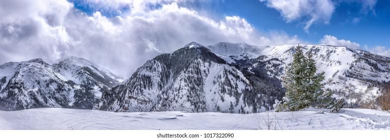Mountains in Colorado during winter