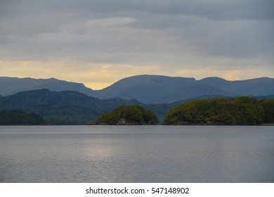 Mountains from Coniston water lake