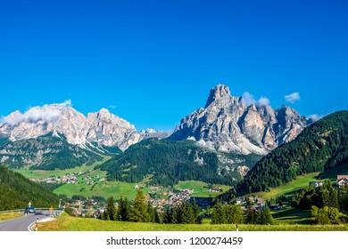 Mountains of Corvara at the Dolomites, Italy