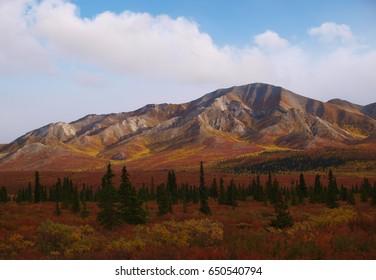 Mountains in Denali National Park, Alaska