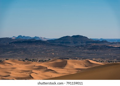 mountains and desert