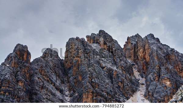 Mountains in the Dolomites, Italy