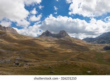 mountains in Durmitor national Park,  Montenegro