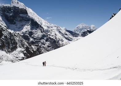 Mountains in Everest region, Himalaya, east Nepal.