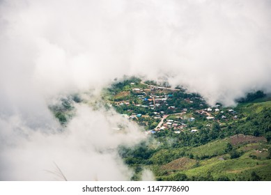 Mountains and fog. Phu Tubberk,Lom Kao District, Phetchabun,Thailand