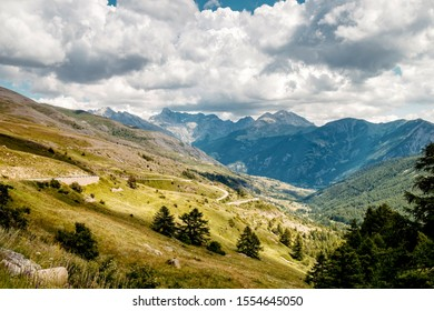 Mountains in the French Alps, France