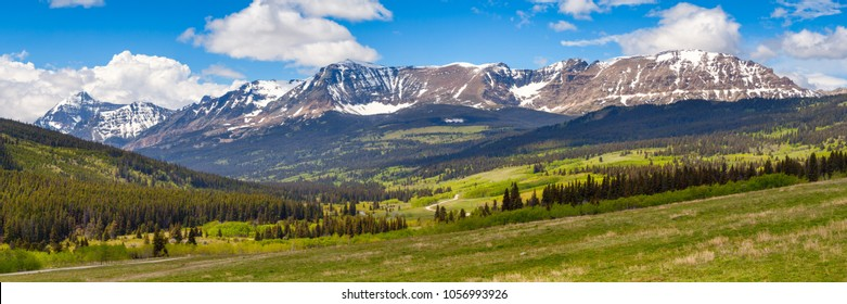 Mountains of Glacier National Park in Montana, USA in spring