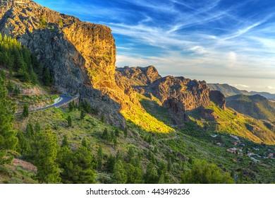 Mountains of Gran Canaria island, Spain