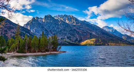 Mountains in Grand Teton National Park in Wyoming
