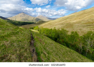 Mountains in Highland of Scotland seen from the Cape Wrath trail