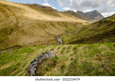 Mountains in Highland,Scotland seen from the Cape Wrath trail