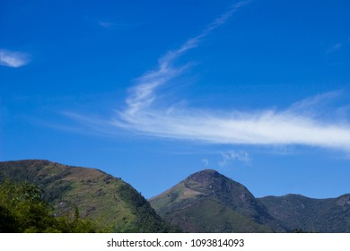 Mountains landscape with blue sky and beautiful cloud