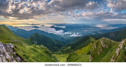 mountains in mala fatra, orava, slovakia - Shutterstock ID 1098400271