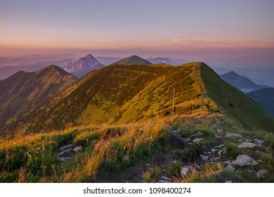 mountains in mala fatra, orava, slovakia - Shutterstock ID 1098400274