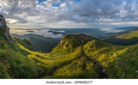 mountains in mala fatra, orava, slovakia - Shutterstock ID 1098400277